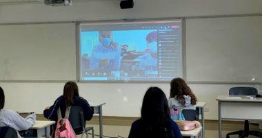 Videoconferência com alunos de Plasencia