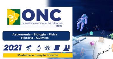 Olimpíada Nacional de Ciências 2021